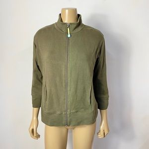 Fresh produce olive full zip lightweight jacket